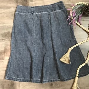 APRIL CORNELL flare Jean skirt